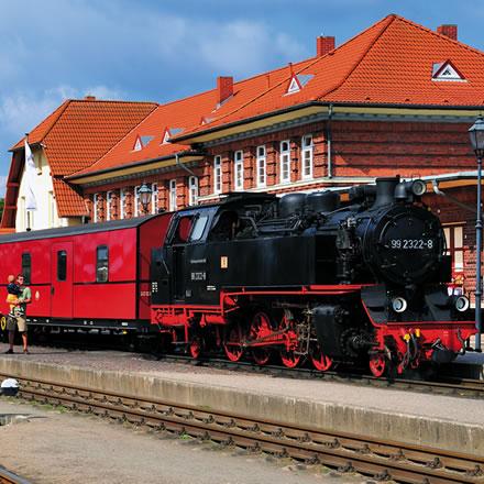 Die historische Schmalspurbahn Molli